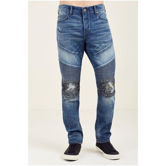 True Religion Other - True Religion Men's Rocco Skinny Moto Jeans